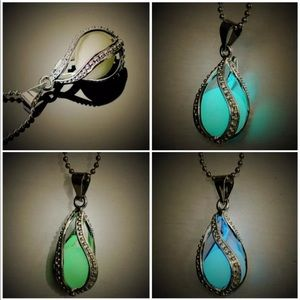 Spiral Glow In the Dark Drop Necklace Costume